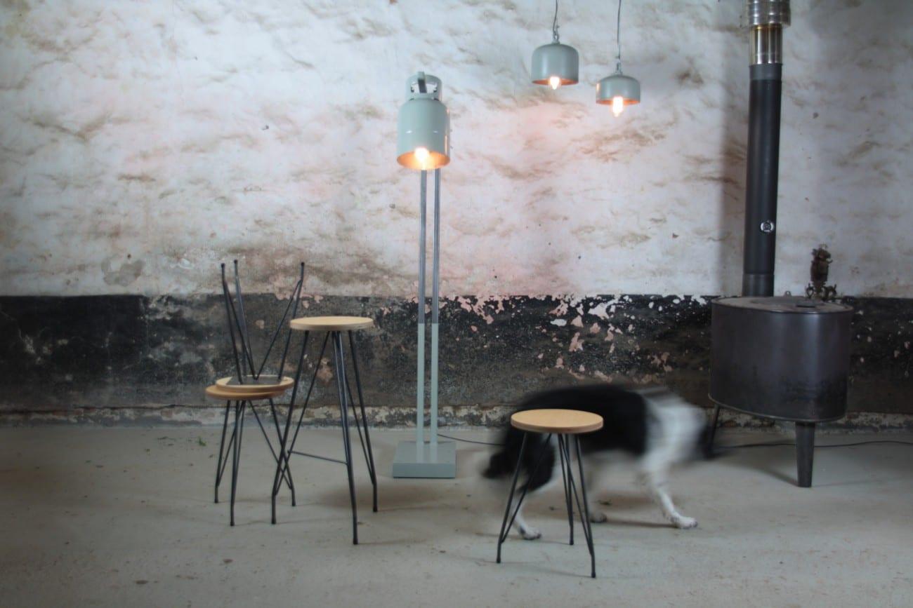Industrieel interieur op maat, barkruk, kruk | Meubelmakerij ...
