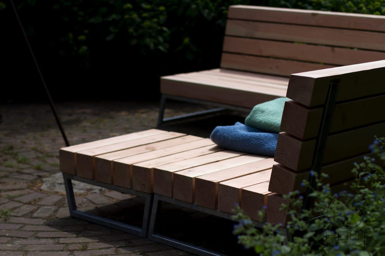 Unieke design loungebank voor in de tuin houtkwadraat - Massief idee van tuin ...