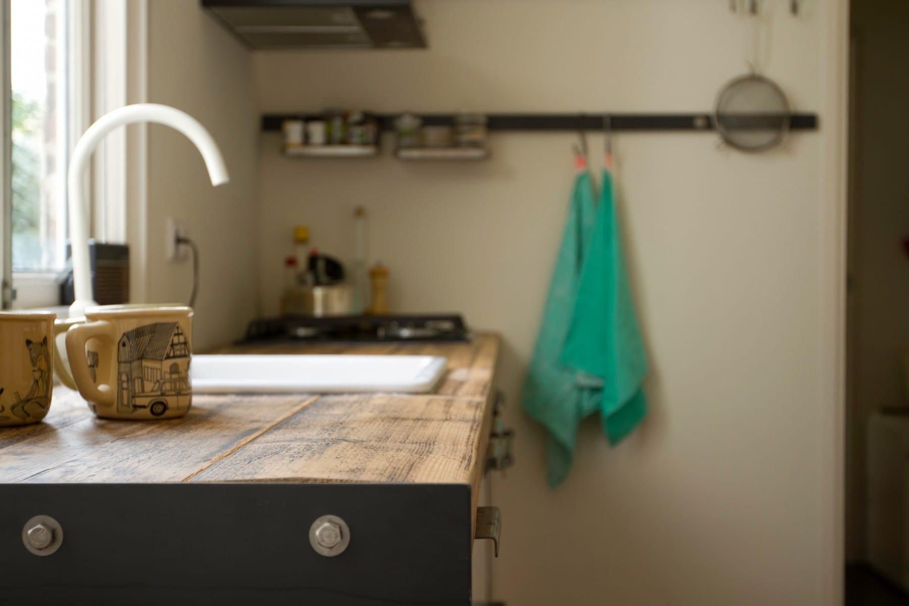 Barkruk keuken hout - Foto keuken ...