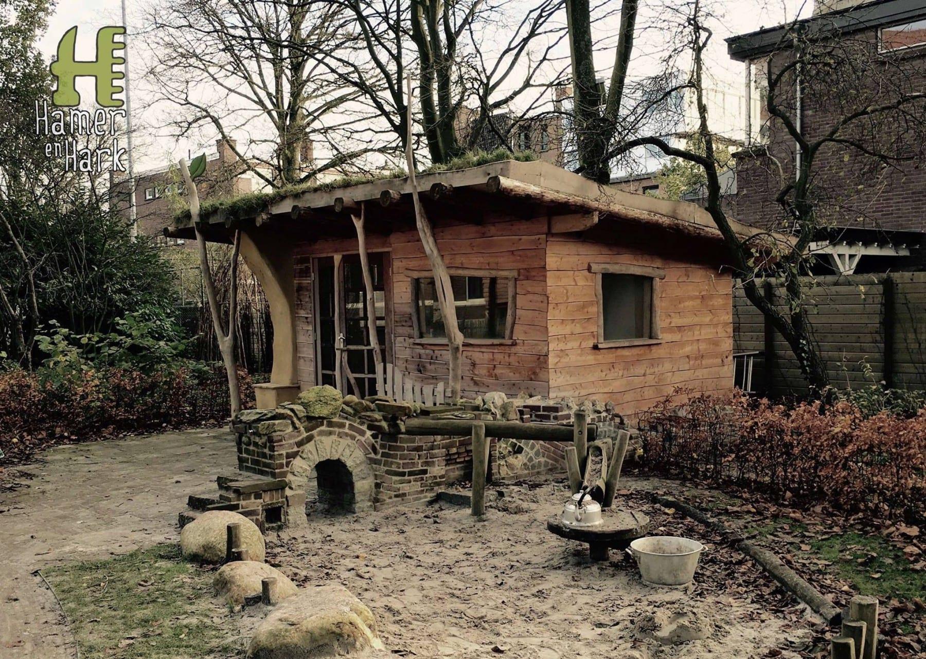 Exclusief tuinhuis natuurlijk meubelmakerij houtkwadraat for Tuinarchitect gent