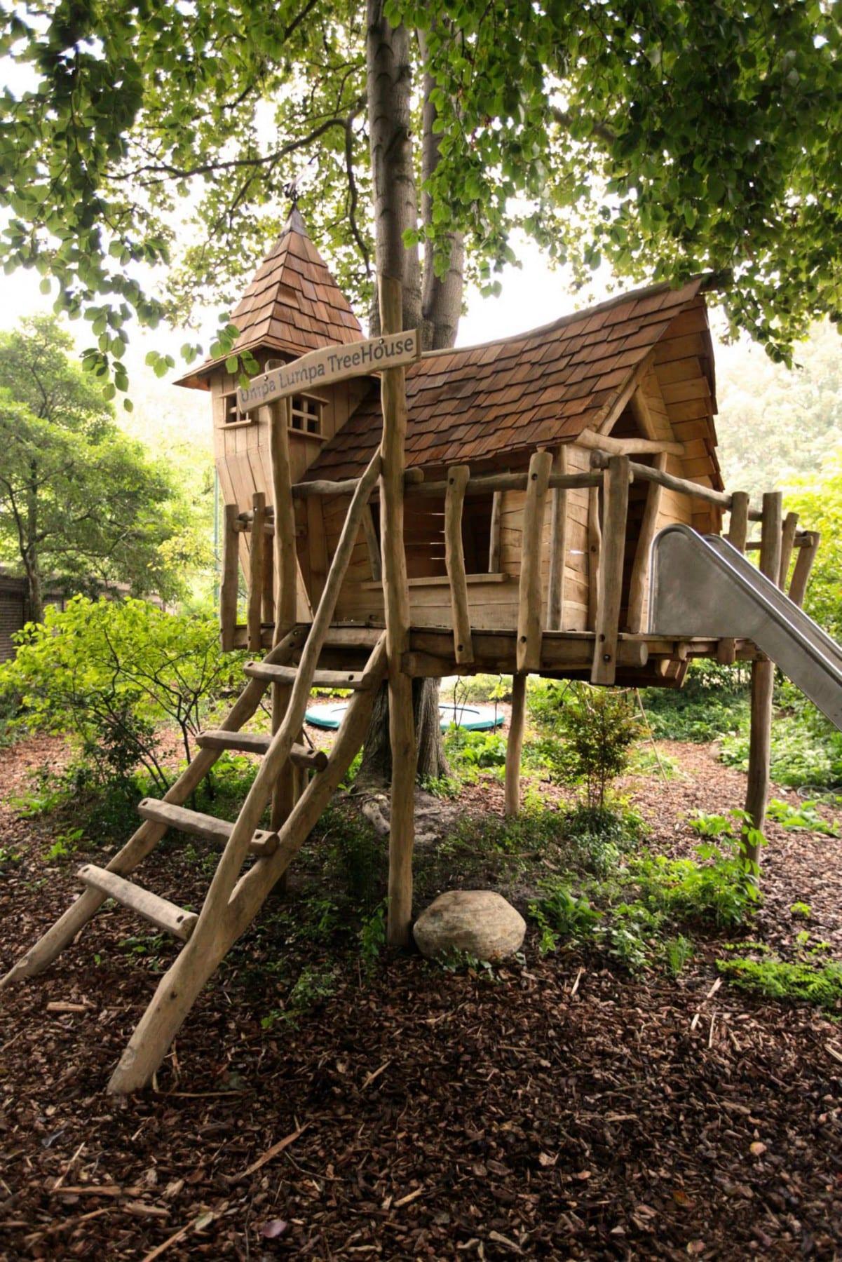 Exclusieve boomhut sprookjesachtig meubelmakerij for Tuinarchitect gent