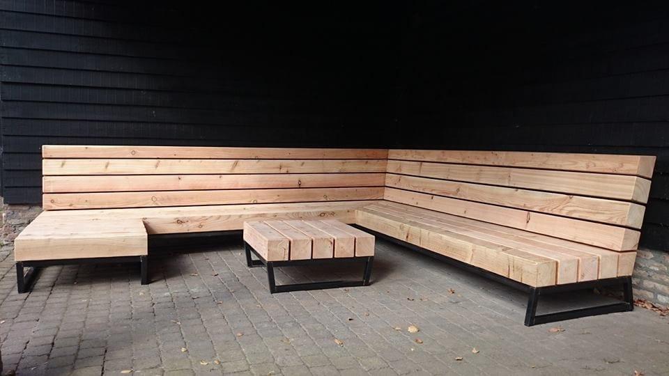 Loungebank tuin hout