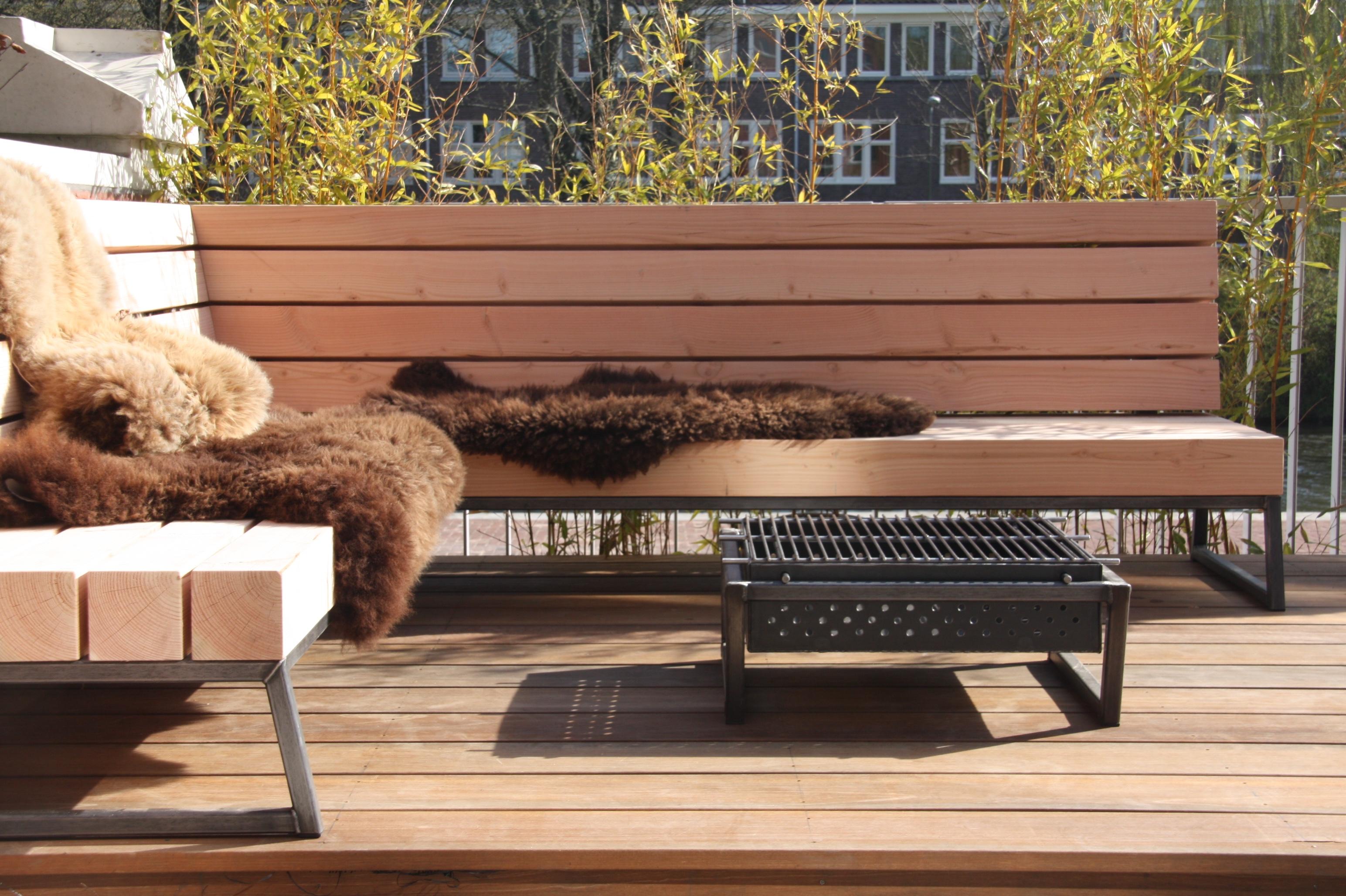 Op maat gemaakte houten loungebank